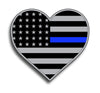 Heart Blue Line Flag Sticker