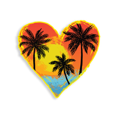 Beach Palm tree Heart