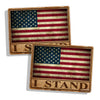 Rustic I Stand USA American Flag Stickers
