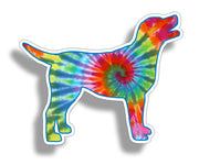 Tie Dye Labrador Dog Sticker