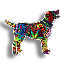 Graffiti Labrador Dog Sticker