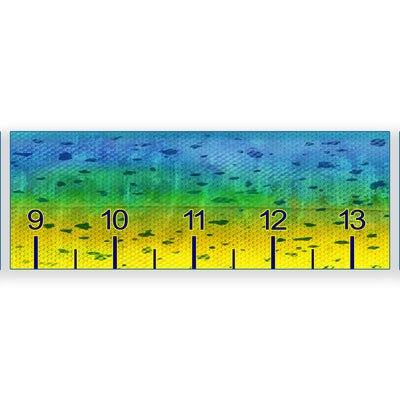 Mahi pattern fish ruler sticker
