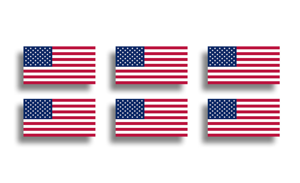 Mini USA Flag Stickers