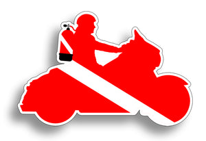 Motorcycle Diver Down Sticker Decal