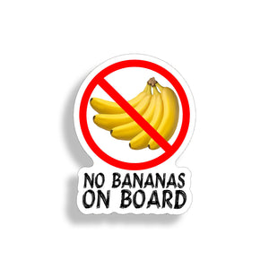 No Bananas On Board Sticker