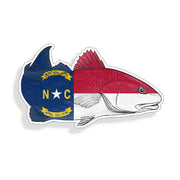 North Carolina NC Redfish Red Fish Sticker