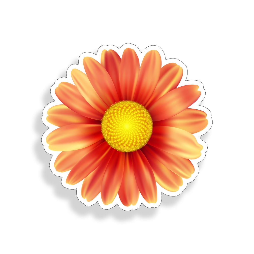 Orange Daisy Sticker