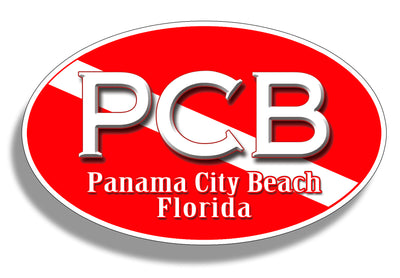 Panama City Beach Diver Down Sticker PCB Decal