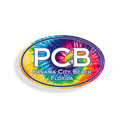 Panama City Beach Tie Dye Oval