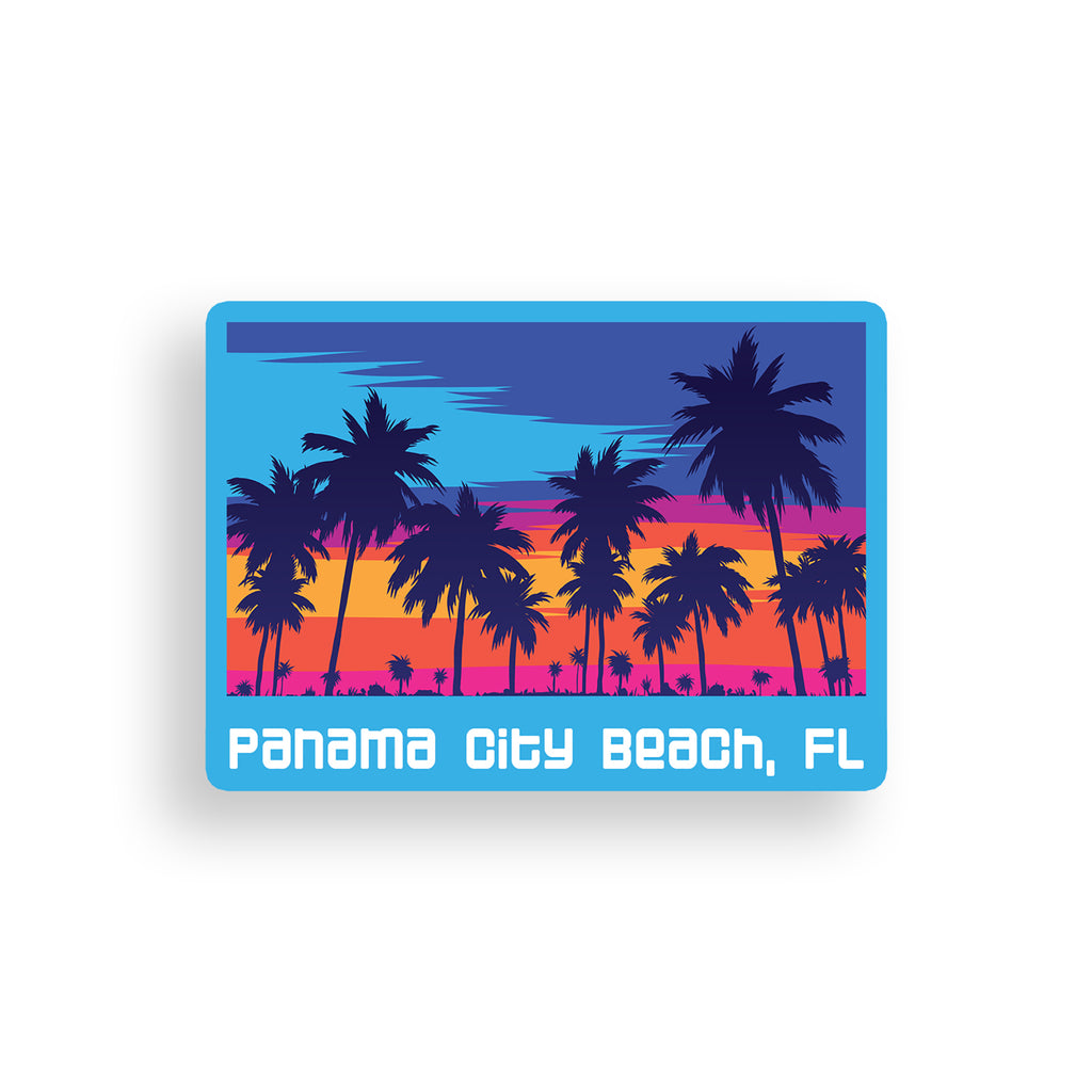 Panama City Beach Sunset Sticker