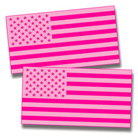 Pink USA Flag Sticker