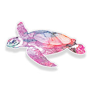 Pink Watercolor Sea Turtle Sticker