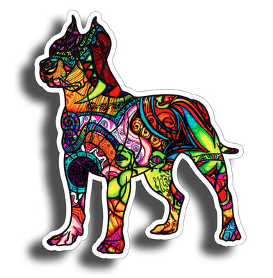 Graffiti Pitbull Dog Sticker