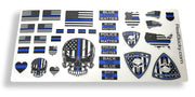 Blue Line Scale Police Sticker Sheet