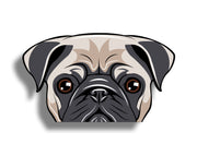 Pug Dog face Sticker
