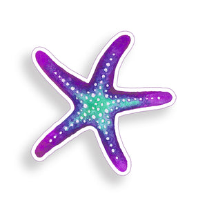 Purple and Blue Starfish Sticker
