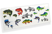 Saltwater and Bass Fish Scale Sheet PAck