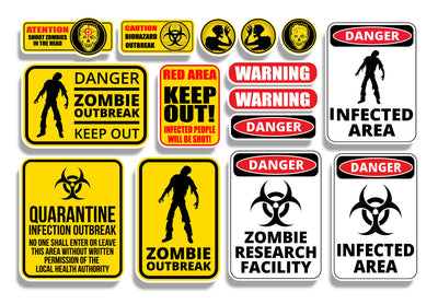 Zombie RC Scale Shop Sticker Sheet
