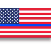Blue Line USA Flag Sticker