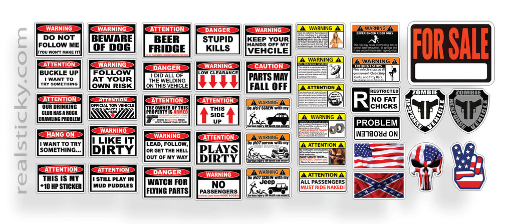 RC Scale Warning Sticker Sheet