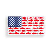 USA Fish Flag Sticker
