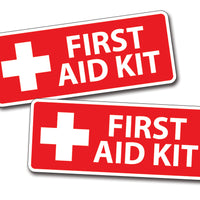 "First Aid Kit Sticker 2"" x 5.5"""