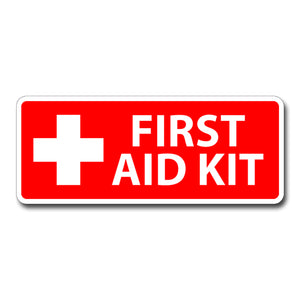 First Aid Sticker Decal