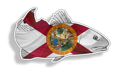 Florida Redfish Red Fish Sticker