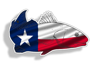 Texas Red fish Sticker
