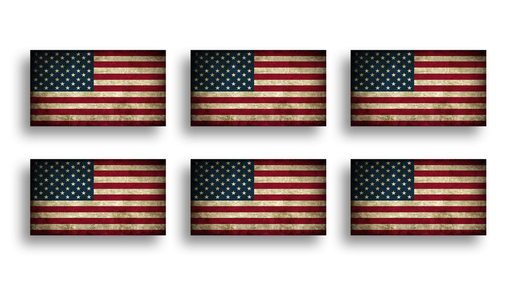 Rustic American Flag Sticker