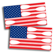 Paddle USA Flag Sticker Decal SUP Paddles US America