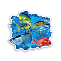 Grand Slam Saltwater Fish Sticker