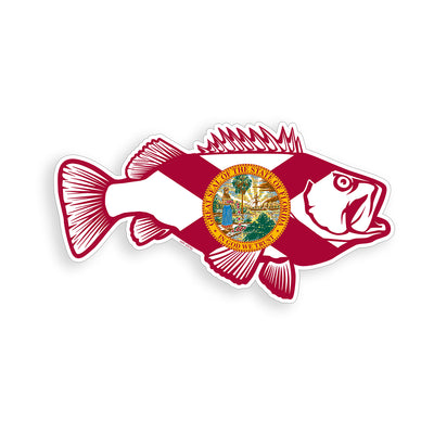 Florida Bass Fish Sticker