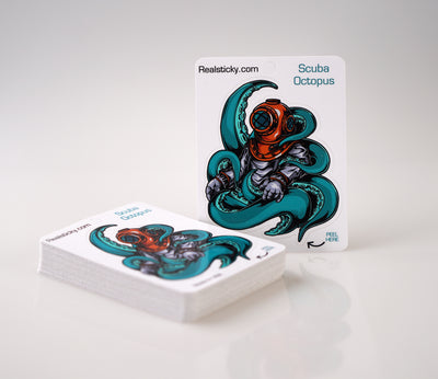 Scuba Octopus Sticker