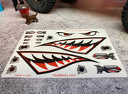 Shark Teeth 1:10 Missile Bomb Eye Sticker Sheet
