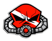Diver Down Breathe Skull Mask Sticker