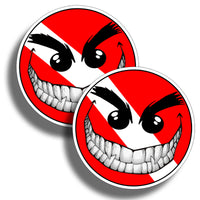 Smiley Face Diver Down Sticker