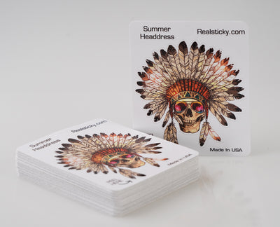 Summer Headdress Skull Sticker