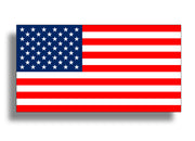 "6"" USA American Flag Sticker"
