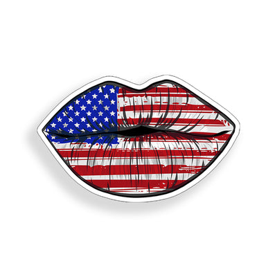 USA American Flag Lip Sticker