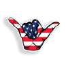 USA American Flag Hang Loose Sticker