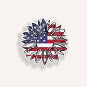 "4"" USA Flag Sunflower"