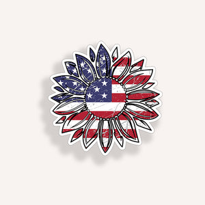 USA Flag Sunflower 4 inch