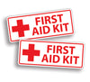 First Aid Kit Sticker - White