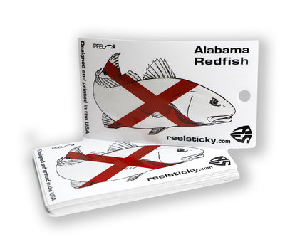 Alabama Redfish Flag Sticker AL State
