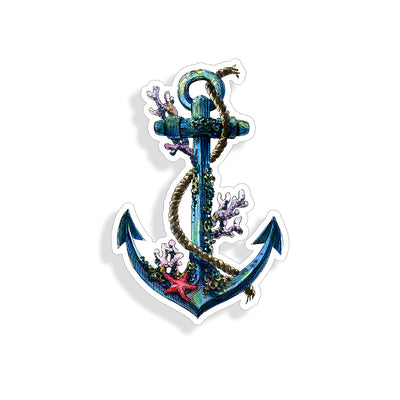 Coral Anchor Sticker