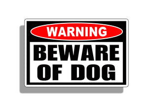 Beware of Dog Sticker Decal Warning