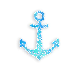 Blue Sea Shell Anchor Sticker