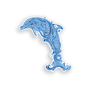 Blue Paisley Tribal Dolphin Sticker