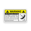 Boat GPS Warning Sticker